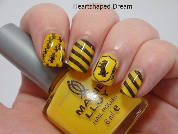 Hufflepuff Nail Design